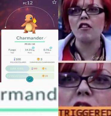 "Charmander - rmand - ""man"" - Triggered."