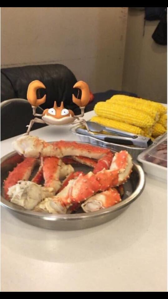 Krabby - Get in the PokeBall or your claws go in the nutcracker