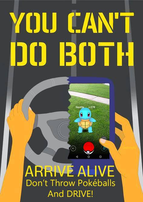 You can't do both. Arrive alive! Don't throw Pokeballs and DRIVE!