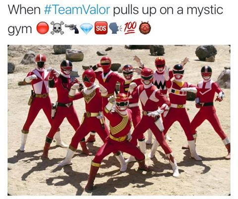When #TeamValor pulls up on a mystic gym